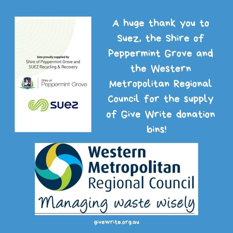 Suez, WMRC and Shire of Peppermint Grove helping Give Write