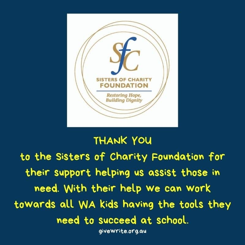 Thanks Sisters of Charity Foundation