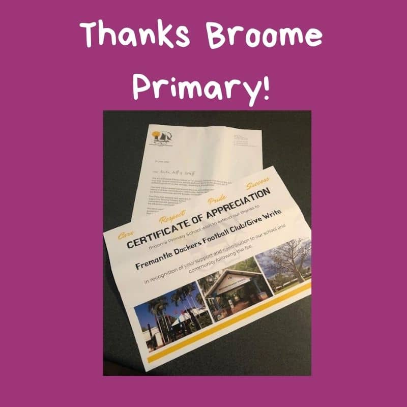 Thanks Broome Primary!