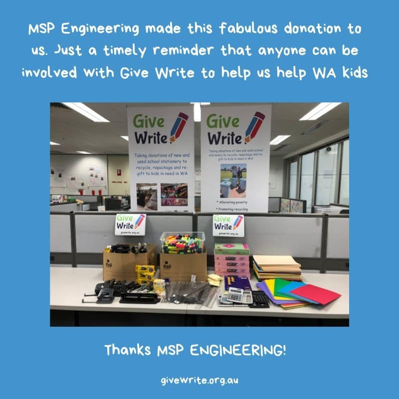 Thanks MSP Engineering!